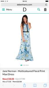 Jane Norman - Multicoloured Floral Print Maxi Dress - £18 at Debenhams