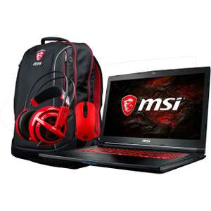"MSI GL72M 7RDX-844UK 17.3"" Gaming Laptop Includes Bag, Steel Series Headset And Mouse - Black - £899 - ao.com plus offering £100 cash back of eligible"