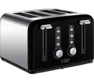 RUSSELL HOBBS Windsor 4-Slice Toasters - Black/Red/Cream £19 @ Currys