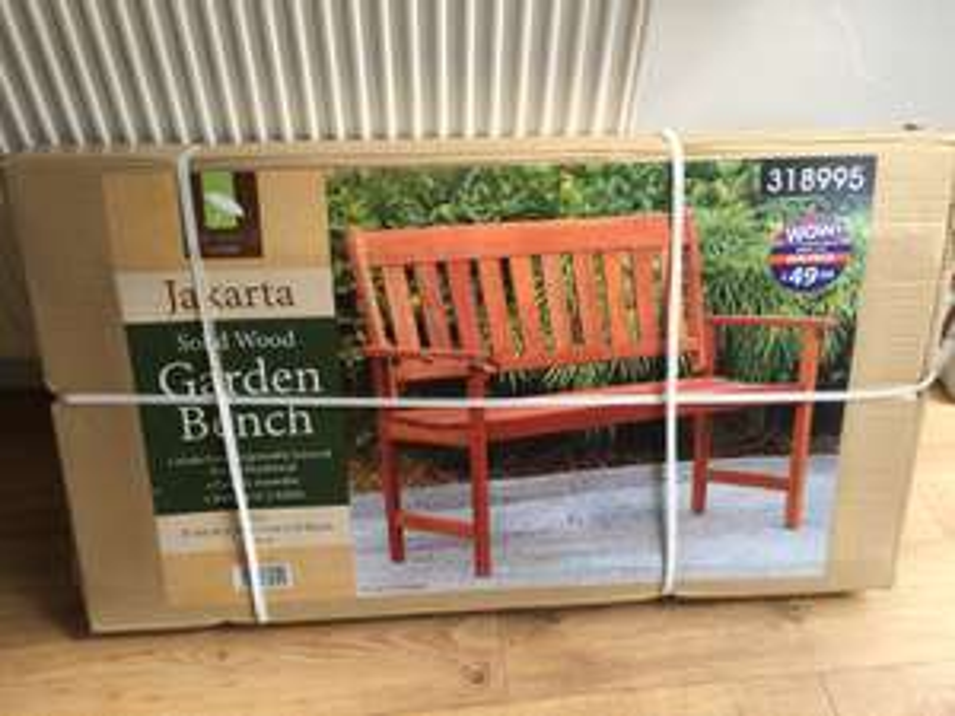Hardwood garden bench £9.99 from B+M