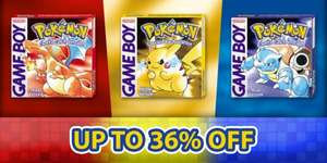 [3DS] 36% off Pokemon Red, Blue and Yellow with a Nintendo Account. 20% without a Nintendo Account on eShop