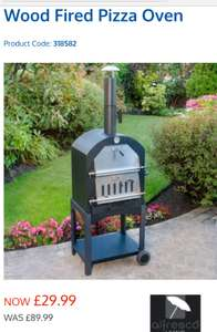 Wood Fired Pizza Oven - £29.99 @ b&m