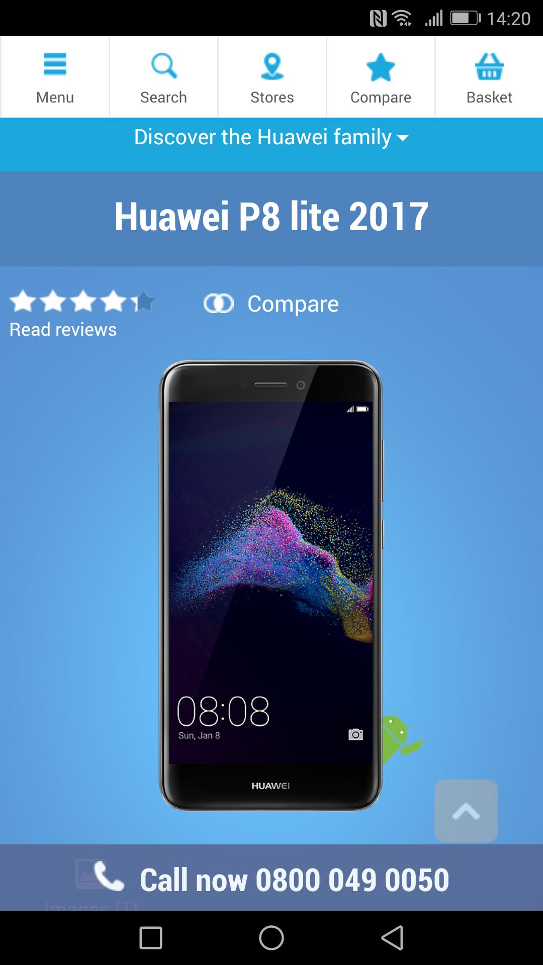 Huawei p8 lite 2017 carphone warehouse - £149.99