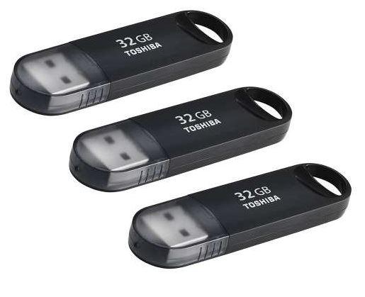 Toshiba TransMemory MX U361 USB 3.0 Memory Stick - 32GB - 3 PACK @ 7DayShop - £23.99