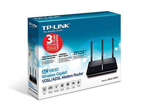 TP-Link AC1900 VDSL/ADSL Modem Router (Archer VR900 V2) £94.99 @ Amazon