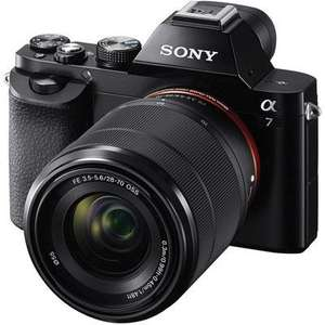 Sony a7 Mirrorless Camera + 28-70mm Lens + Sony 2 Year Warranty & £100 Cashback (makes it £799)  @ Wex