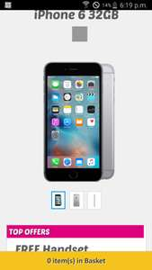Iphone 6 £22.99 a month at buy mobiles - unlimited calls/texts and 2GB data £551.76