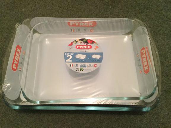 Pyrex Essentials Set of 2 Rectangular Pie Dishes £6 @ Asda