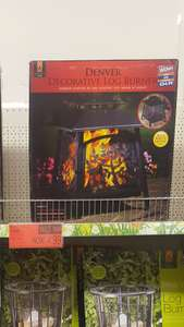 Denver log burner £4.99 b&m