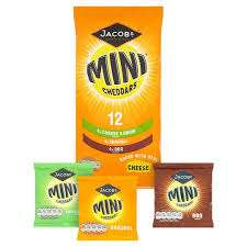 Jacobs Mini Cheddars Variety Pack and Original Cheese 12 X 25 G Half Price Was £2.75 Now £1.37 @ Tesco