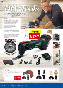 MULTI PURPOSE TOOL ACCESSORIES @ LIDL FROM 31st AUGUST