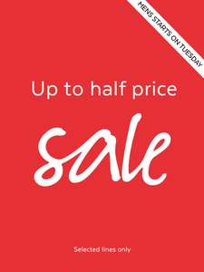 Sainsbury's TU Clothing Half price Sale now live instore and online - Mens now starts on Tuesday