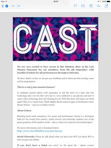 Show Film First. CAST Doncaster Musical - £2 @ SFF