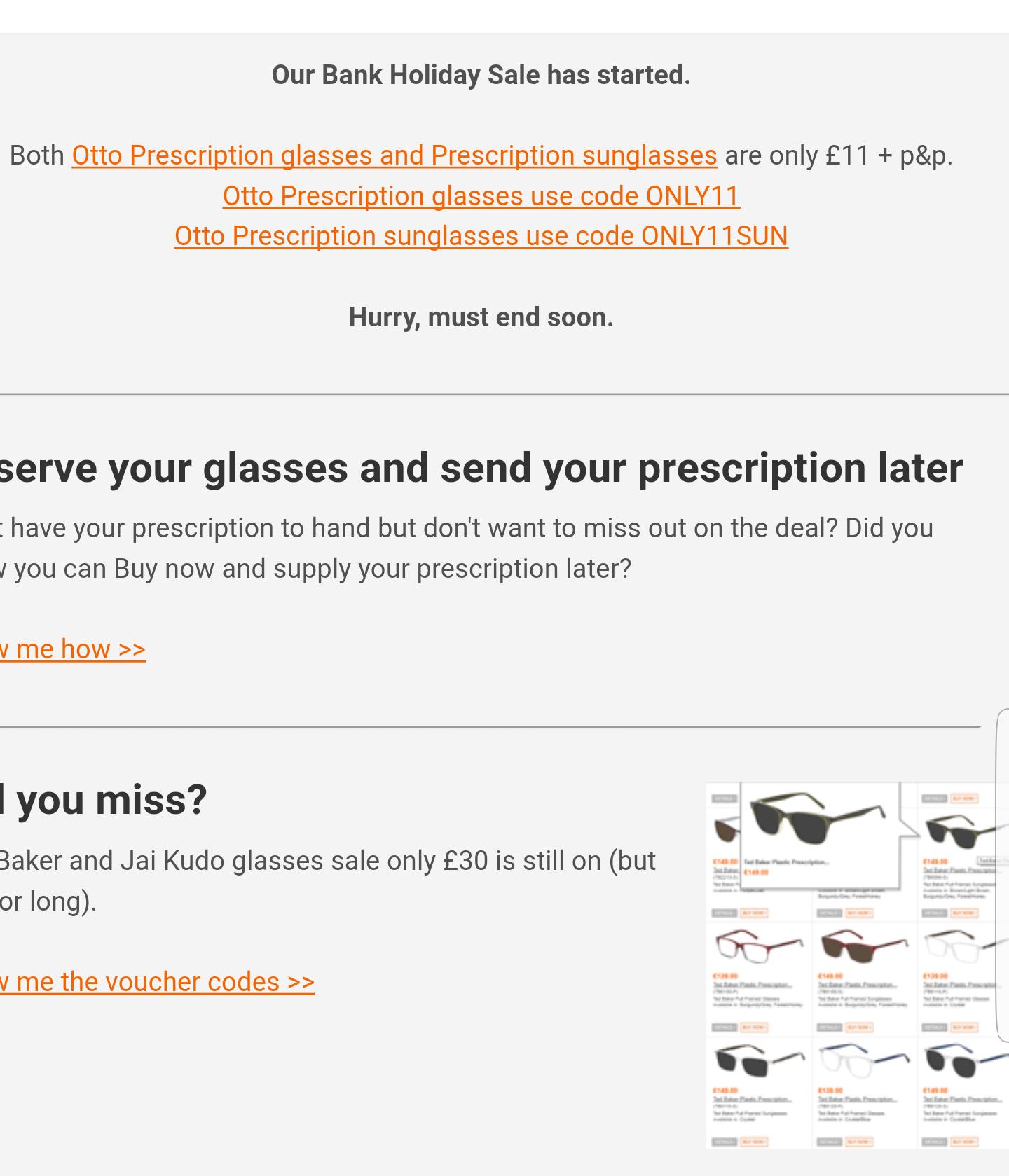 Prescription glasses speky foureyes - £12 plus postage
