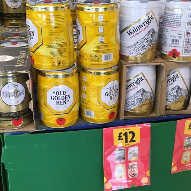 5litre kegs at Morrisons Swinton - £12