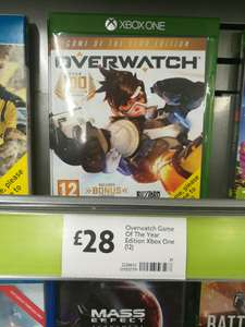 Overwatch game of the year edition. Xbox1/PS4. £28. Morrisons
