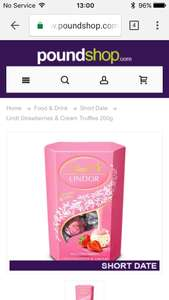 Lindt Lindor Strawberries and Cream 200g only £1 (+£4.95 del) @ poundshop