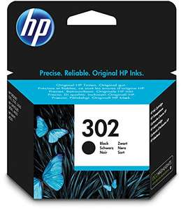HP 302 Black Original Ink Cartridge (F6U66AE) AMAZON for £8.24 Prime (or £11.23 non-Prime)