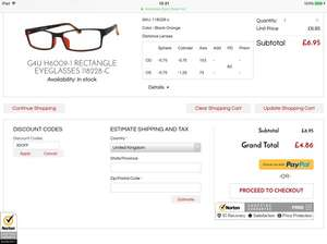 Prescription glasses less than £5 with delivery. £4.86 - 30% off store wide at Goggles4u