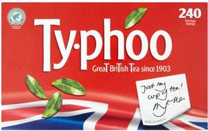 Typhoo Foil Fresh Teabags (240) was £5.00 now £3.00 (Rollback Deal) @ Asda