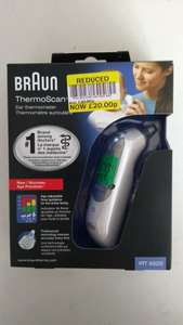 Braun Thermoscan 7 was £40 now £20 instore only @ Tesco