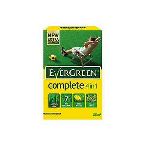 Evergreen 4 in 1 lawn weed & feed 80sqm B&M stores