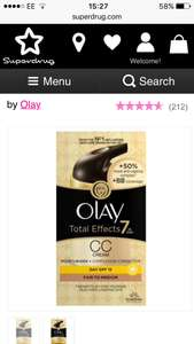 Olay Total Effects CC Cream BOGOF @ Superdrug plus other Olay items BOGOF