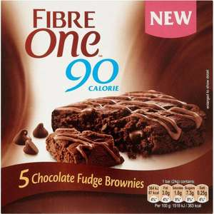 Fibre One 90 Calorie Chocolate Fudge Brownie Bars / Lemon Drizzle Bars (5 x 24) was £2.89 now £1.44 (Rollback Deal)  @ Asda