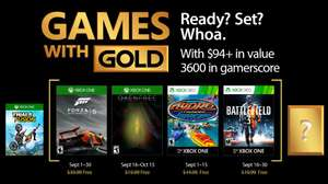 Xbox Live Games With Gold For September 2017