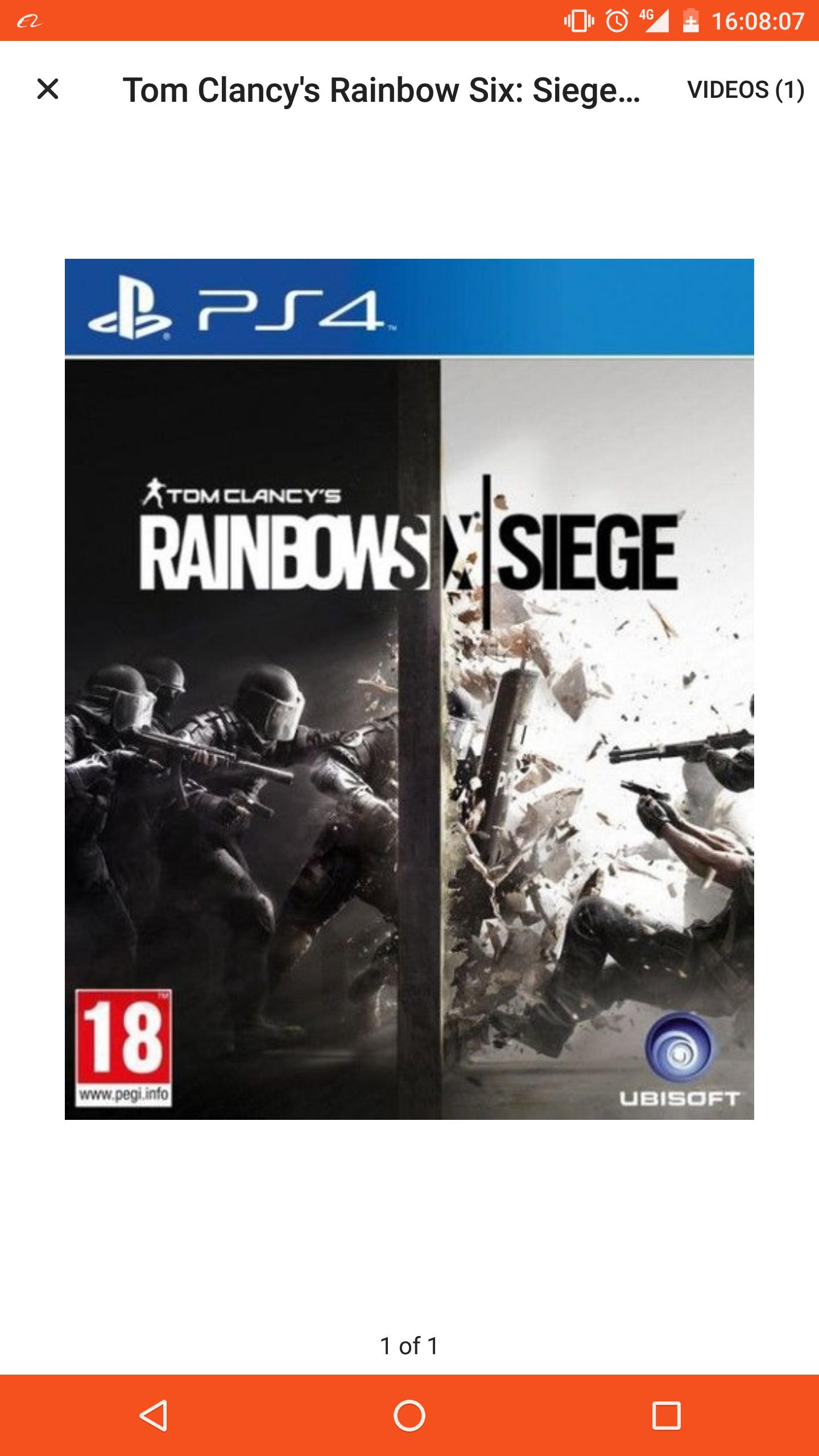 Rainbow Six Siege [PS4/X1] £14.99 (Prime / £16.98 non Prime) @ Amazon