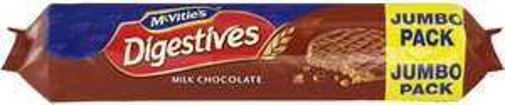 McVitie's Digestives Milk or Dark Chocolate Jumbo Pack (500g) was £1.65 now £1.25 (Rollback Deal) @ Asda