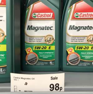 Castrol fully synthetic 5W-20 great for ford £9 down to 98p instore @ Asda