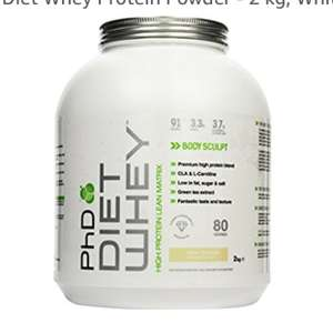 Phd diet whey white chocolate deluxe £14.99 Prime / £19.74 Non Prime @ Amazon