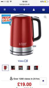 RUSSELL HOBBS Windsor 22821 Jug Kettle - Red £19 @ Currys