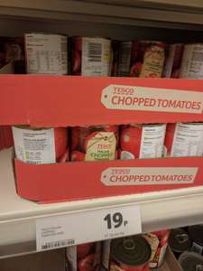 Tesco Italian chopped Tomatoes 400g 19p in-store @ Tesco