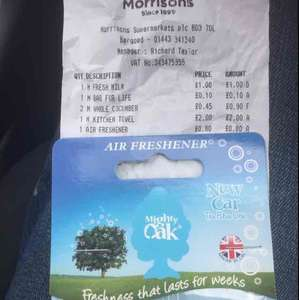 Mighty Oak Car Air Freshener just 80p Morrisons