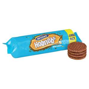 McVitie's Chocolate Hobnobs Jumbo Pack 431g was £1.78 now £1 @ Morrisons
