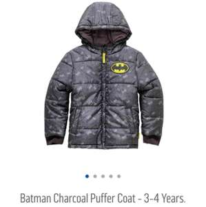 Boys Batman puffer coat @argos