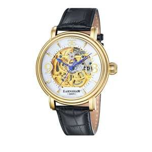 Longcase Men's Automatic Watch with White Dial Analogue Display with Black Leather Strap ES-8011-04 £60.04 @ Amazon