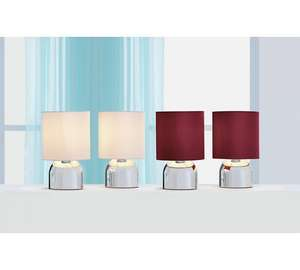 Pair of touch table lamps ( various colours ) Reduced to £8.99 @ Argos