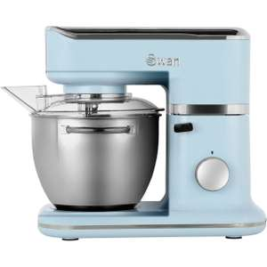Edit 5/9 - Now £89.10 with code - Swan Retro SP21010BLN 1000W Stand Mixer with 4.5 Litre Bowl including dough hook - Blue £99 @ AO