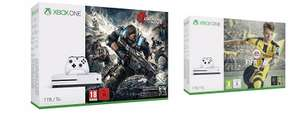 Xbox One S 1TB + Fifa 17 or Gears of War 4 + Doom + Fallout 4 + Dishonored 2 £229 with code @ Tesco Direct