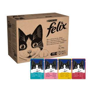 Felix Mixed Jelly and Gravy Cat Food 80 x 100g Pouches, £12.32 (Prime / £17.07 non Prime) @ Amazon
