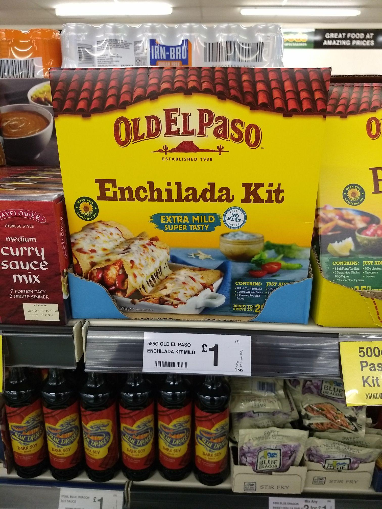 Old El Paso Enchilada Kit £1 instore @ FarmFoods