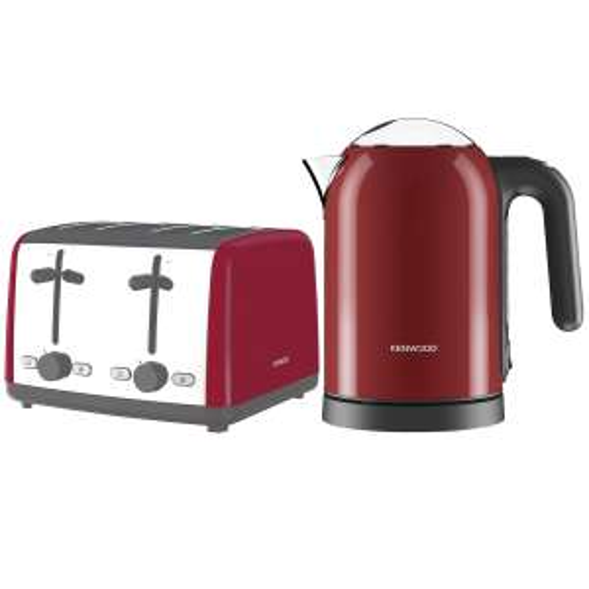 Kenwood Scene 3KW Electric Kettle 1.6L & 4 Slice Toaster 1800W Bundle Red - £37.50 @ Tesco Outlet Ebay