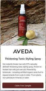 Free sample of Aveda Thickening Tonic Styling Spray