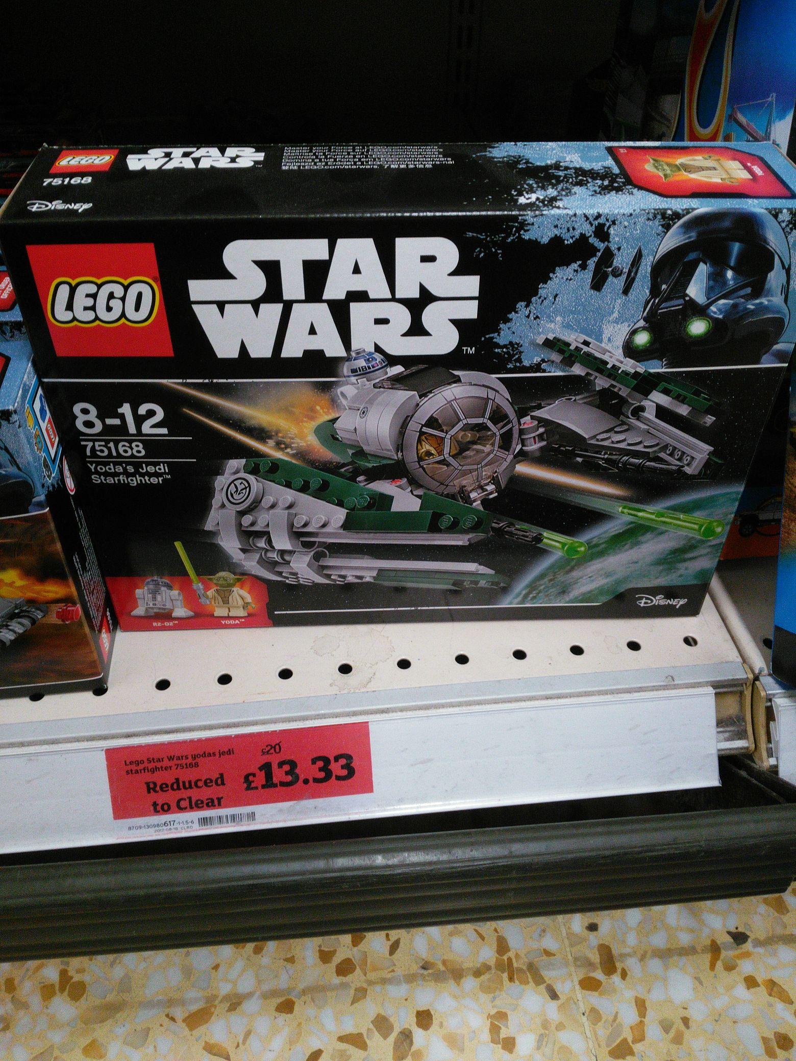 Lego Yoda jedi starfighter - £13.33 instore @ Sainsbury's