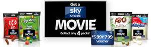 Nestle Sharing bags £1 each at Tesco & Asda. Buy 4 and get £5.99 Skystore Credit