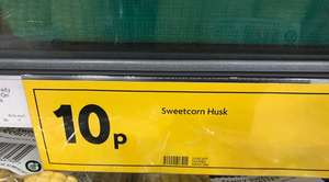 Fresh Sweetcorn in their husks 10p at Morrisons