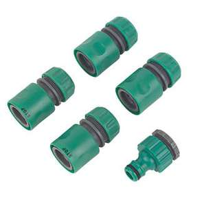"Hose Connector Set ½"" 5 Pieces 99p @ Screwfix (Free C&C)"